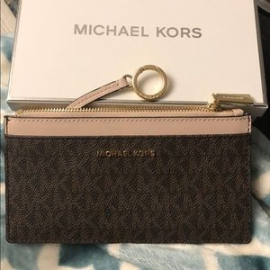 New in box Michael Kors wallet with key chain ring